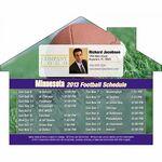 Custom Minnesota Pro Football Schedule House Shape Magnet (5