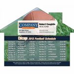 Custom Chicago Pro Football Schedule House Shape Magnet (5