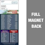 Custom Seattle Pro Football Schedule Vinyl Magnet (3 1/2