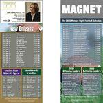 Custom New Orleans Football Schedule Magnet (3 1/2