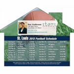 Custom Los Angeles Pro Football Schedule House Shape Magnet (5
