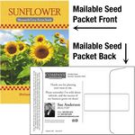 Custom Sunflower Seeds / Mailable Seed Packet - Custom Printed Back