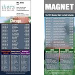Custom Chicago Pro Football Schedule Magnet (3 1/2