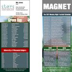 Custom Green Bay Pro Football Schedule Magnet (3 1/2