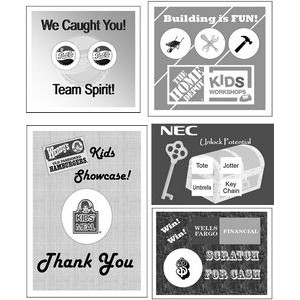 "Semi Custom Scratcher Cards - Black & White (8.50""x11)"