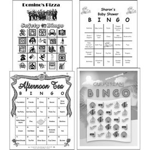 "Full Custom Game Cards - Black & White (3.75""x4.25"")"