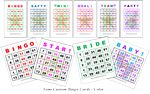 Custom Semi Custom Bingo Game Cards - Color (8.50