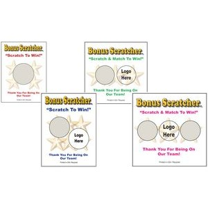 "Semi Custom Scratcher Cards - Color (3.75""x4.25"")"