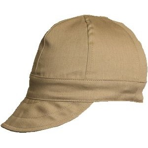 FR 7oz. 100% Cotton Welding Cap - 6 Panel / Gray Khaki or Navy (Size 6 3/4 to 8)