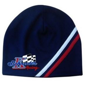 Performance Beanie Cap w/Slanted Stripes