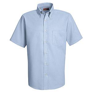Mens Short Sleeve Easy Care Oxford Dress Shirt