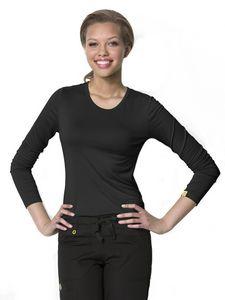 Custom WonderWink Layers Silky Long Sleeve Tee Shirt