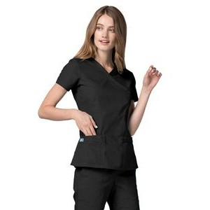 Adar Universal Women's Double Stitched Mock Wrap Top