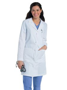 Custom Landau Knot Button Lab Coat