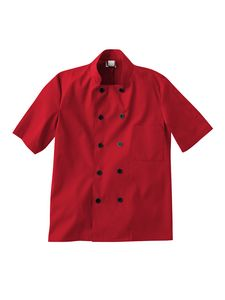 Custom White Swan Five Star Chef Apparel Short Sleeve Chef Jacket