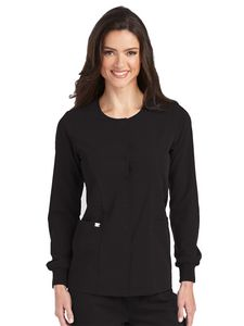 Custom Barco Grey's Anatomy Signature Series Round Neck Snap Front Warm-Up Jacket