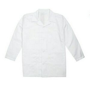 Youth Poplin Lab Coat w/ Long Sleeves