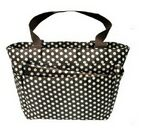 Custom Deluxe Diaper Bag w/ Polka Dot Pattern & Changing Pad