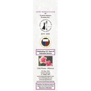 "Plastic Custom Bookmark, Full Color, 2"" x 8"", 19 Point, Rounded Corners"