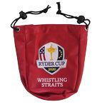 Custom Synthetic Leather Drawstring Valuable Pouch (golf)