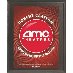 "Cherry Finish Full Color Value Plaque (5""x7"")"
