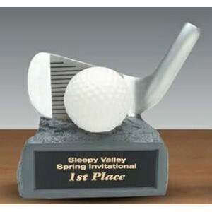 White/ Silver Golf Ball Resin Award
