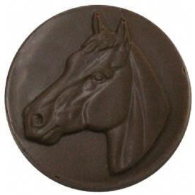 0.64 Oz. Chocolate Horse Head Round