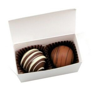 2 Piece Chocolate Truffle Box