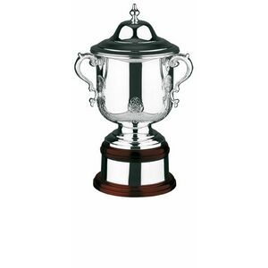 "Swatkins League Champions Hand Chased Cup Award w/ Lid (16.76"")"
