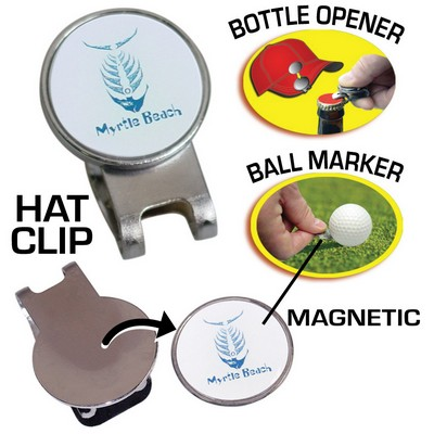 Hat Clip Golf Ball Marker Bottle Opener