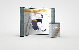 Economy Plus 10 Curved Display Graphic/Fabric Pop-Up