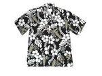 Custom Black Hawaiian Tropical Print Shirt
