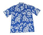Custom Blue Short Sleeve Hawaiian Cotton Shirt