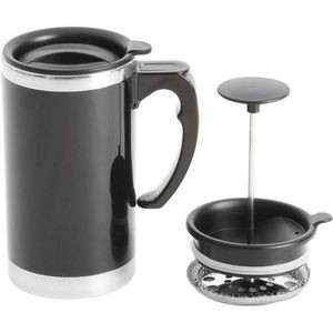 21oz Stainless Steel Lined Double-Wall Travel French Press Coffee/Tea Mug
