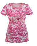 Custom Women's Soft Pink Digital Camo Long T-Shirt
