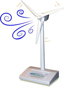 Desktop Wind Turbine / Hybrid e.Fan - USB Powered