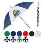Custom 2-Tone Wind-Proof Golf Umbrella w/ Steel Shaft (58