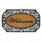Custom Grill Border Welcome Entry Mat