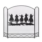 Custom Cowboy Round-Up Fireplace Screen