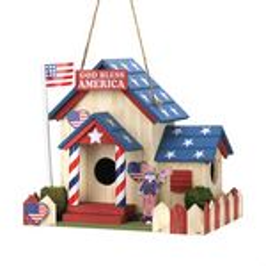 Custom Patriotic Birdhouse