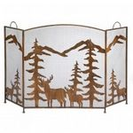 Custom Rustic Forest Fireplace Screen