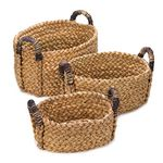 Custom Rustic Woven Nesting Baskets Set of 3