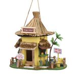 Custom Tiki Hut Birdhouse