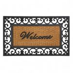 Custom Fleur-De-Lis Framed Welcome Mat