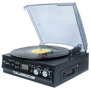 Boytone 3-Speed Stereo Turntable with Built in Speakers