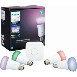 Philips Hue White and Color Ambiance A19 LED Starter Kit