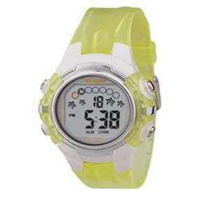 Sport Watch w/ Translucent Yellow Band