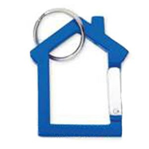 Carbiner Key Holder w/ Split Ring - House