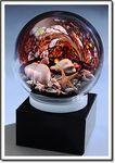 Custom Black Sand Beachcomber Art Glass Diorama w/o Marble Base (3.5