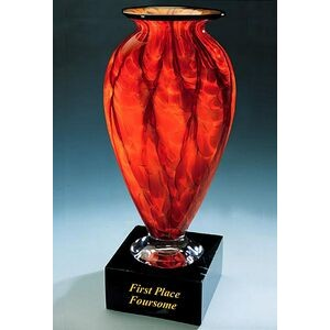 "First Place Foursome Trophy Vase w/o Marble Base (4.25""x8"")"
